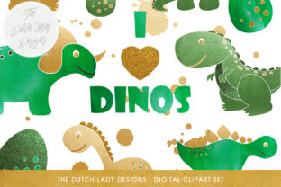 Dinosaur Clipart Set Graphic By Daphnepopuliers Creative Fabrica