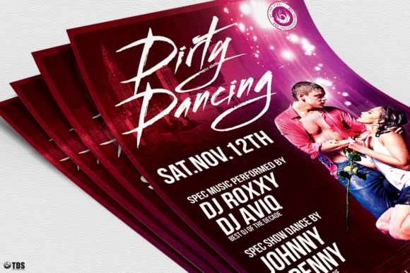 Dirty Dancing Flyer Template Graphic Print Templates By ThatsDesignStore - Image 5