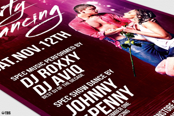 Dirty Dancing Flyer Template Graphic Print Templates By ThatsDesignStore - Image 6