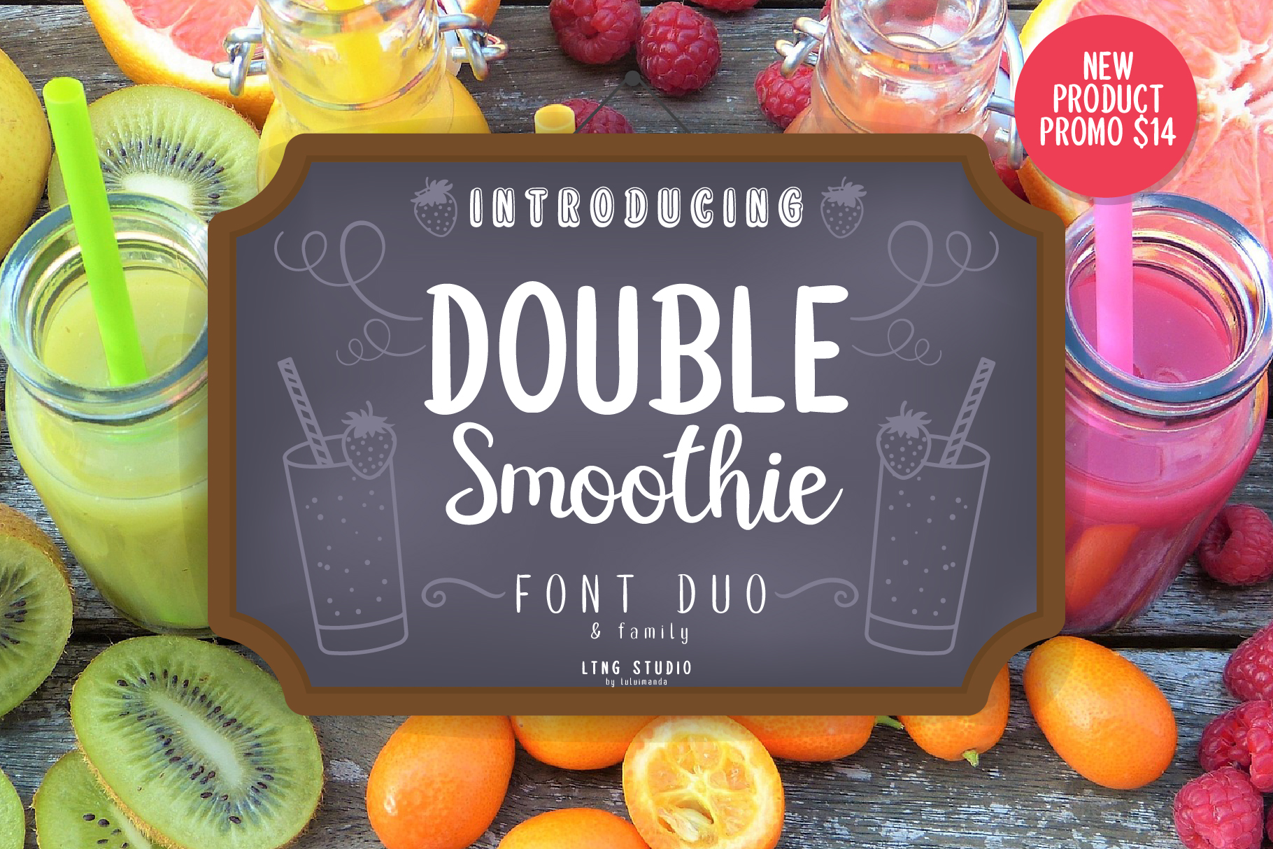 Print on Demand: Double Smoothie Script & Handwritten Font By LTNG