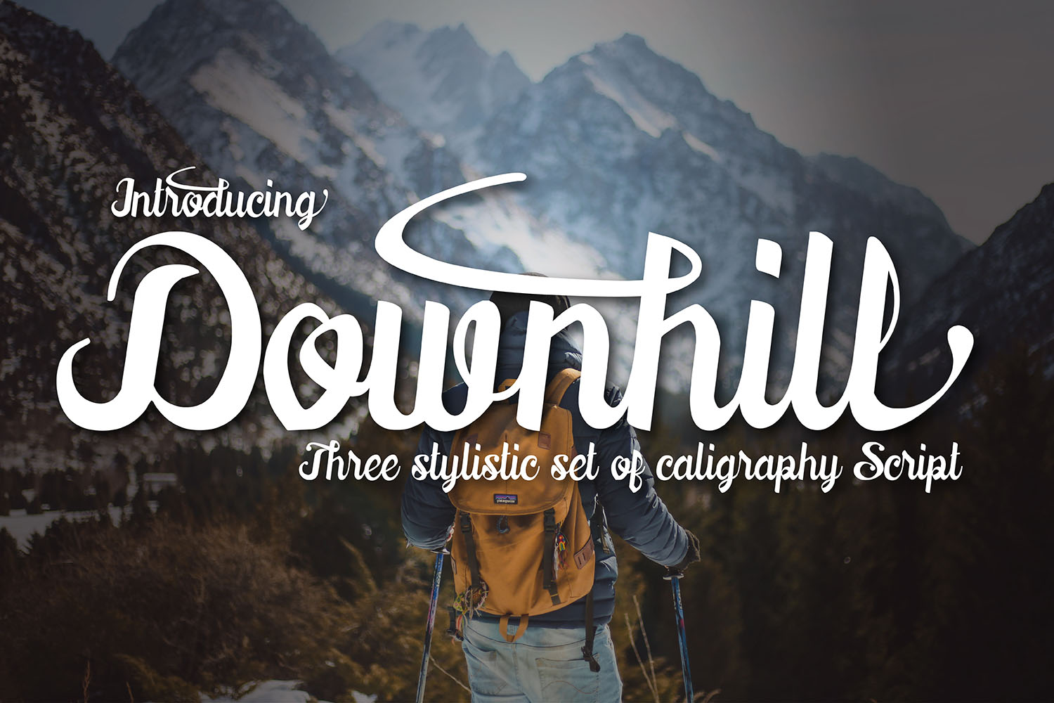 Print on Demand: Downhill Script & Handwritten Font By 38.lineart