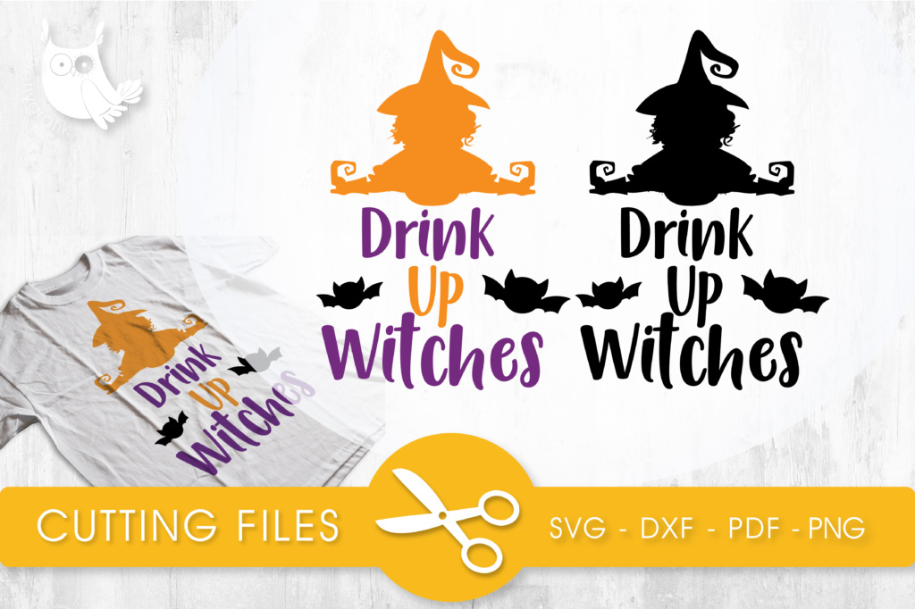 Download Free Drink Up Witches Graphic By Prettycuttables Creative Fabrica for Cricut Explore, Silhouette and other cutting machines.