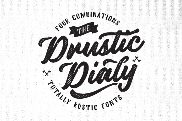 Print on Demand: Drustic Dialy Display Font By Adam Fathony