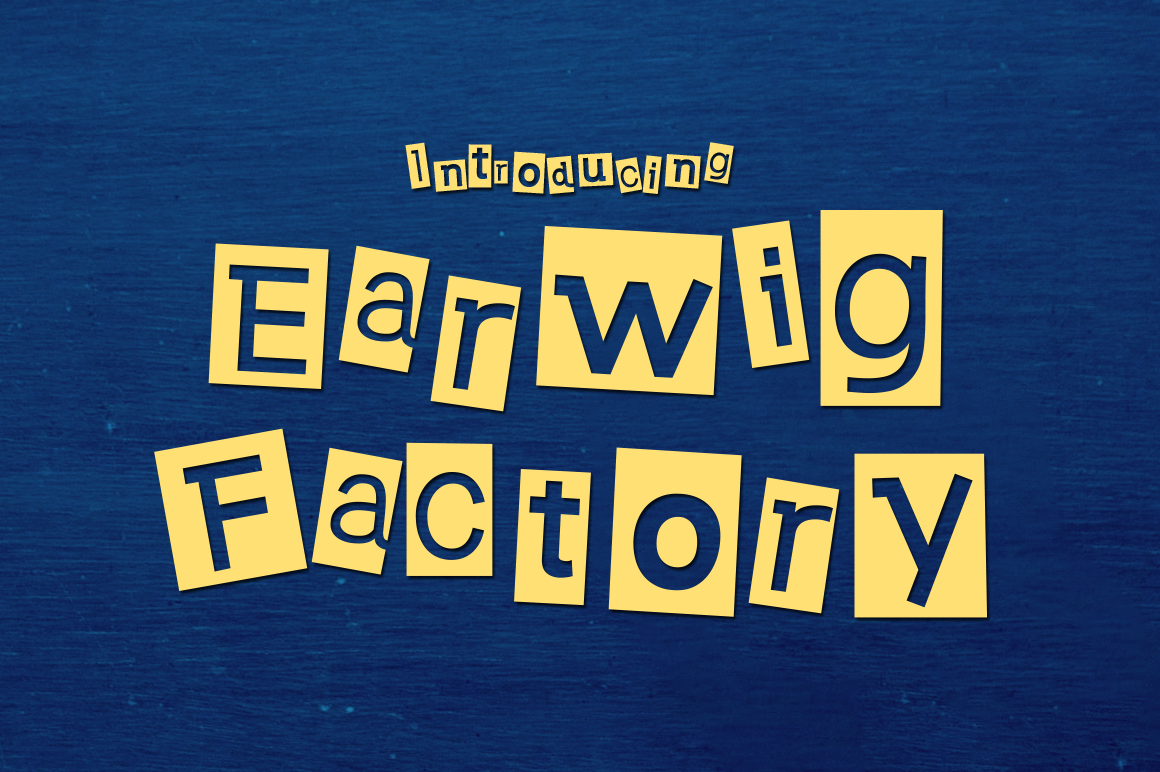 Print on Demand: Earwig Factory Decorative Font By Typodermic