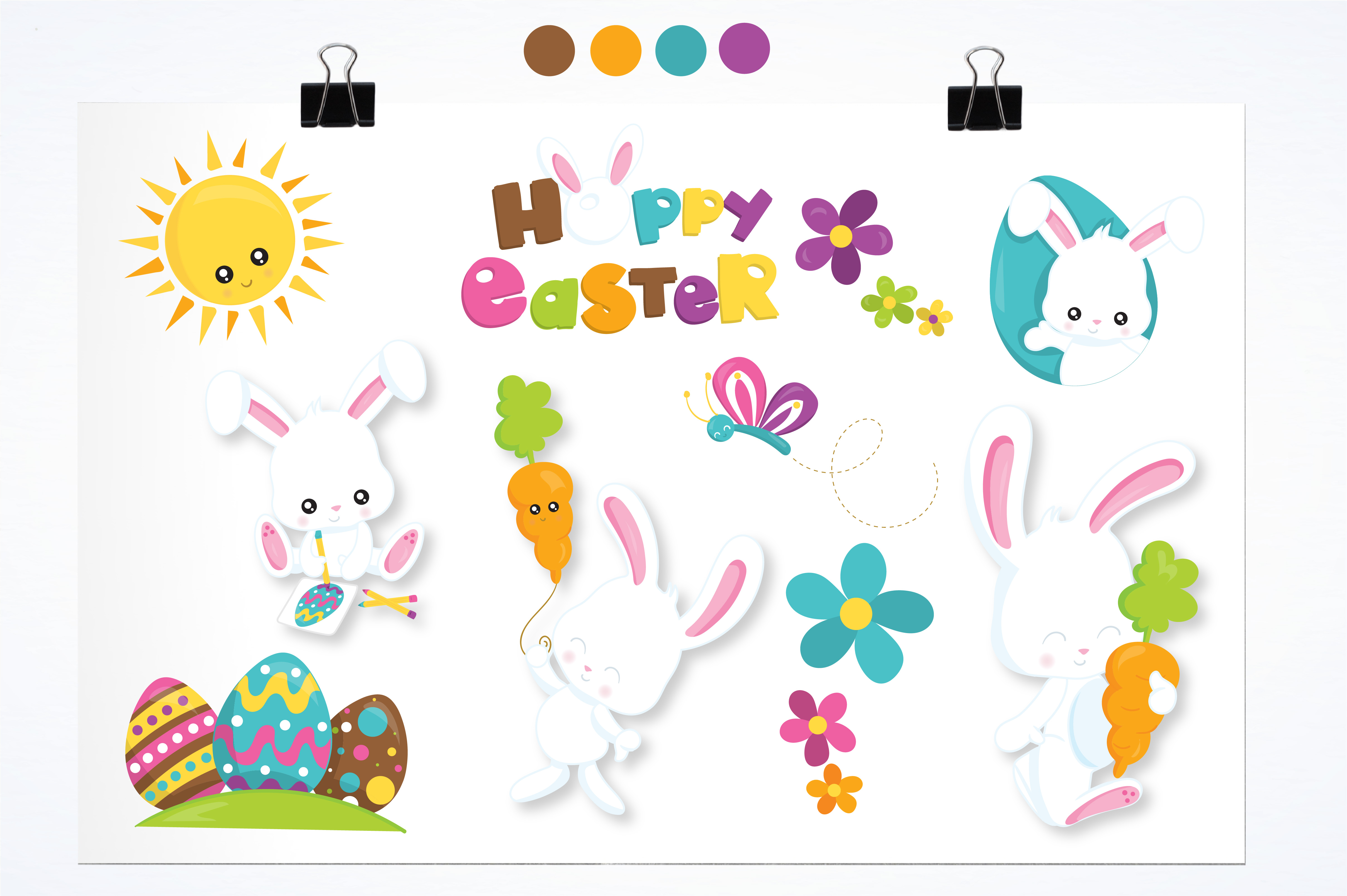 Download Free Easter Bunny Graphic By Prettygrafik Creative Fabrica for Cricut Explore, Silhouette and other cutting machines.