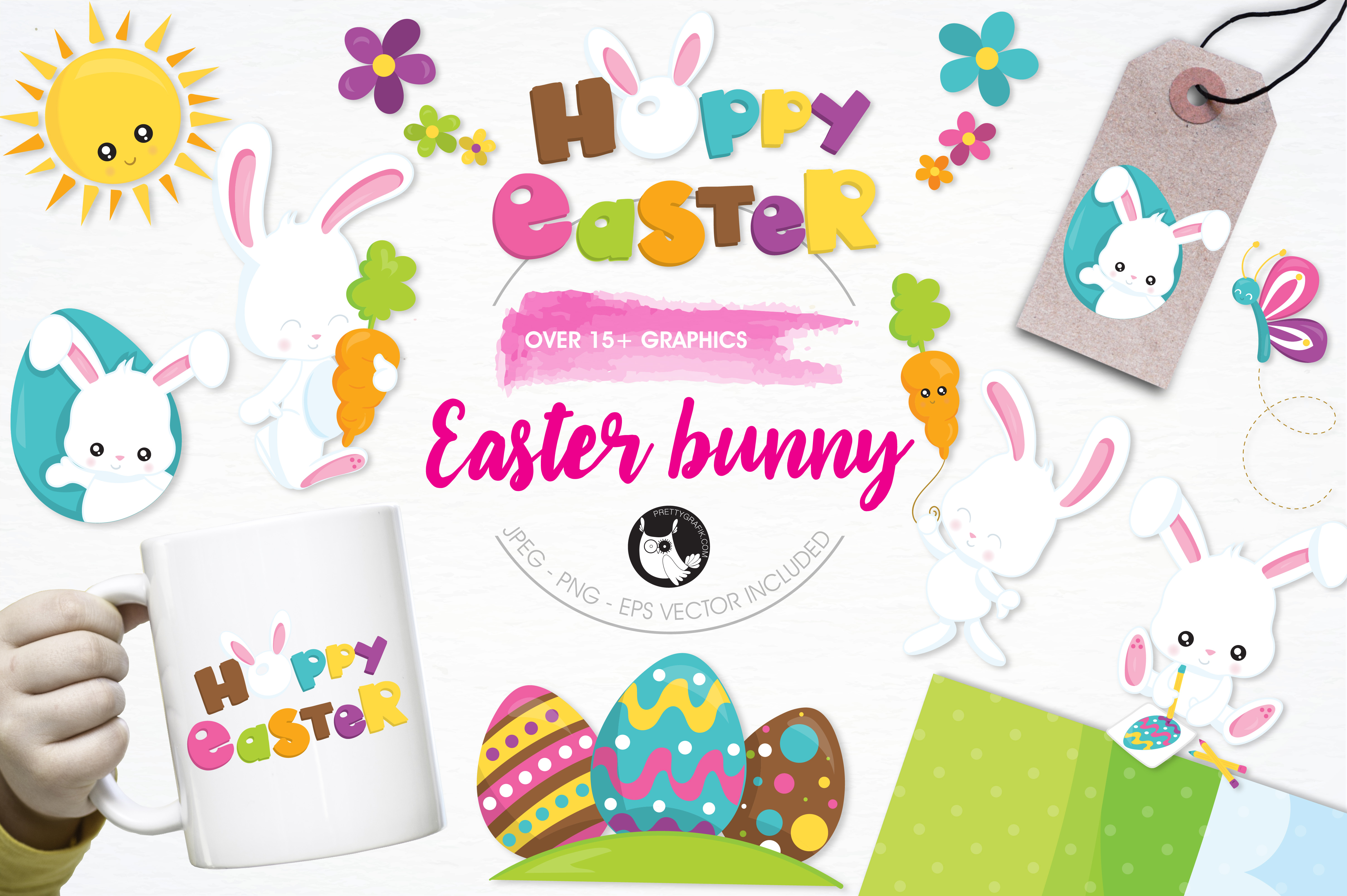 Print on Demand: Easter Bunny Graphic Illustrations By Prettygrafik