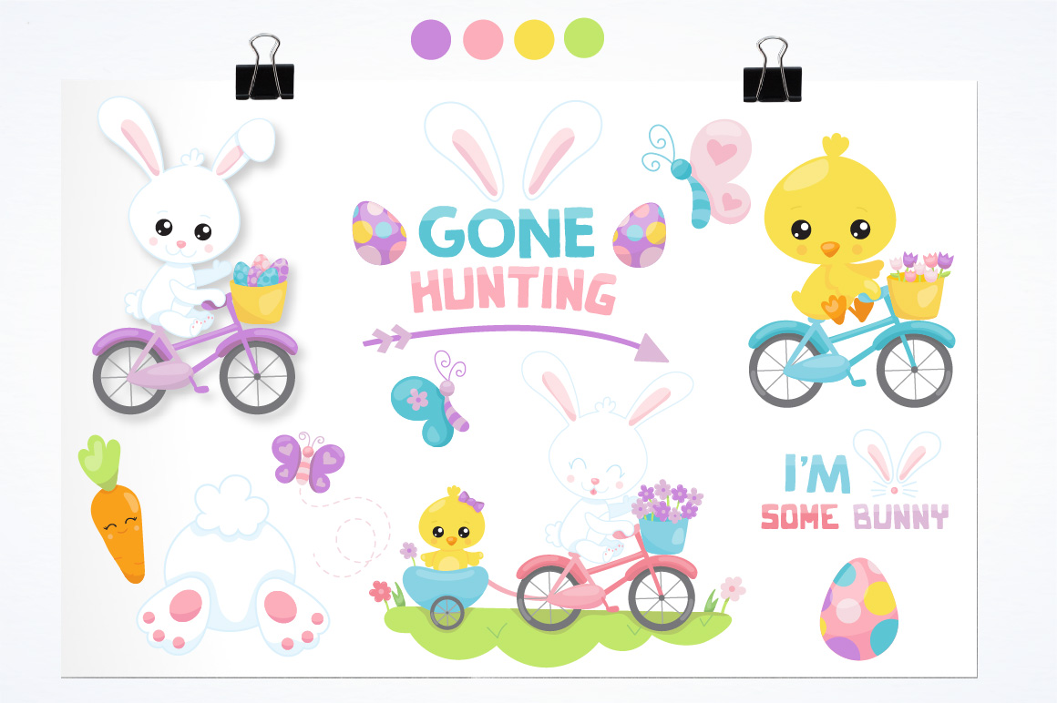 Print on Demand: Easter Ride Graphic Illustrations By Prettygrafik - Image 2