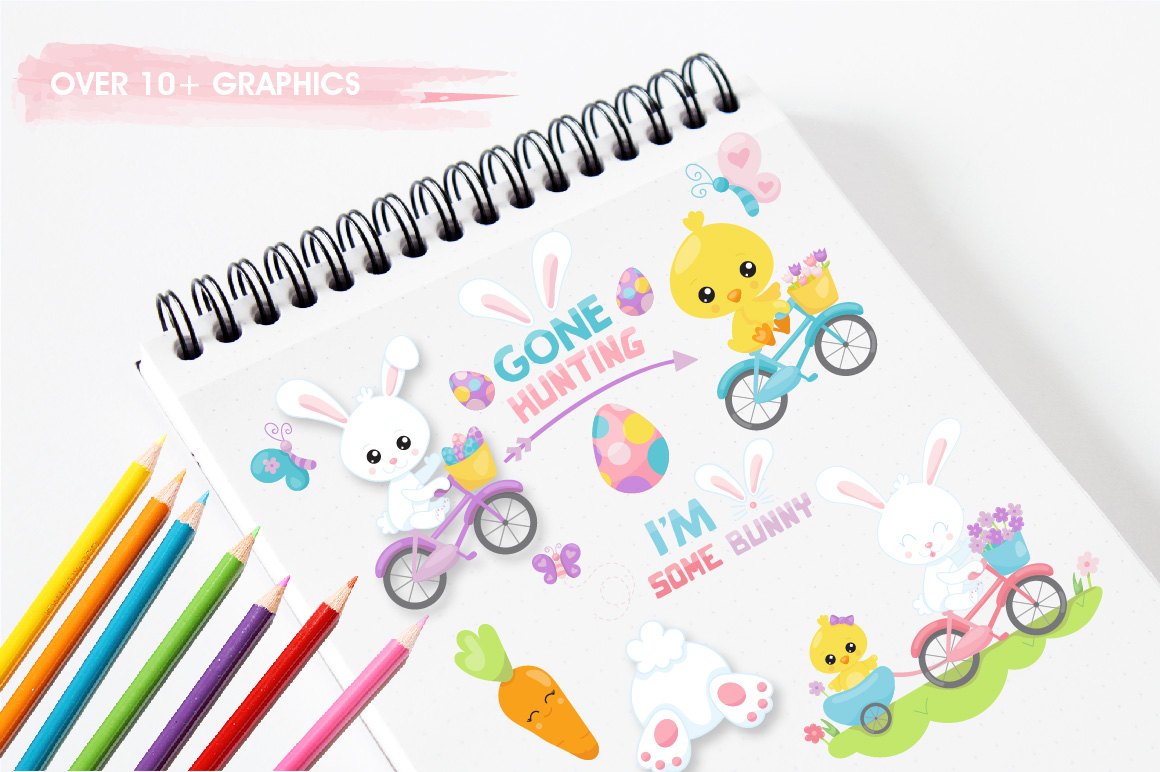 Print on Demand: Easter Ride Graphic Illustrations By Prettygrafik - Image 3