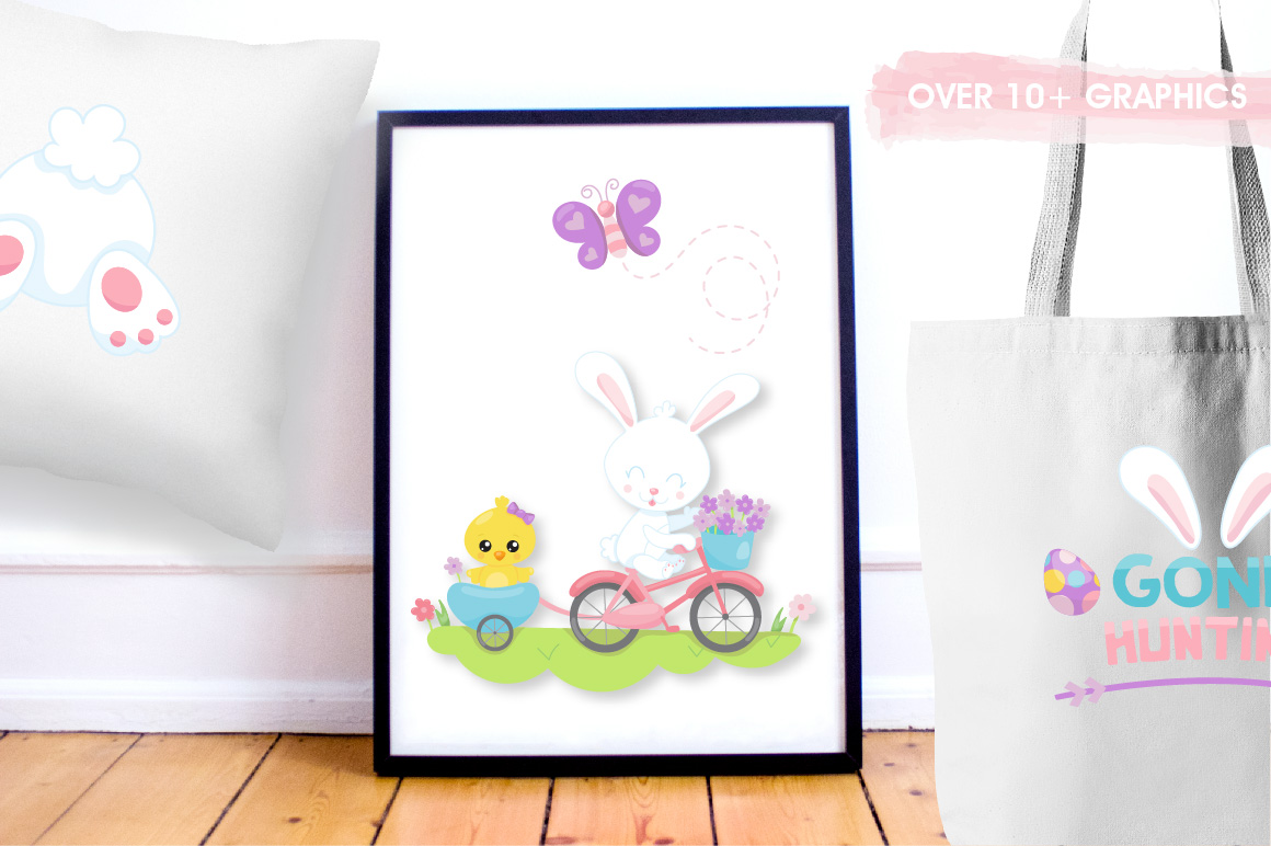 Print on Demand: Easter Ride Graphic Illustrations By Prettygrafik - Image 5