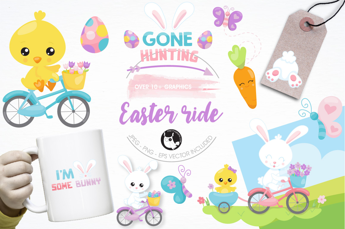 Print on Demand: Easter Ride Graphic Illustrations By Prettygrafik - Image 1