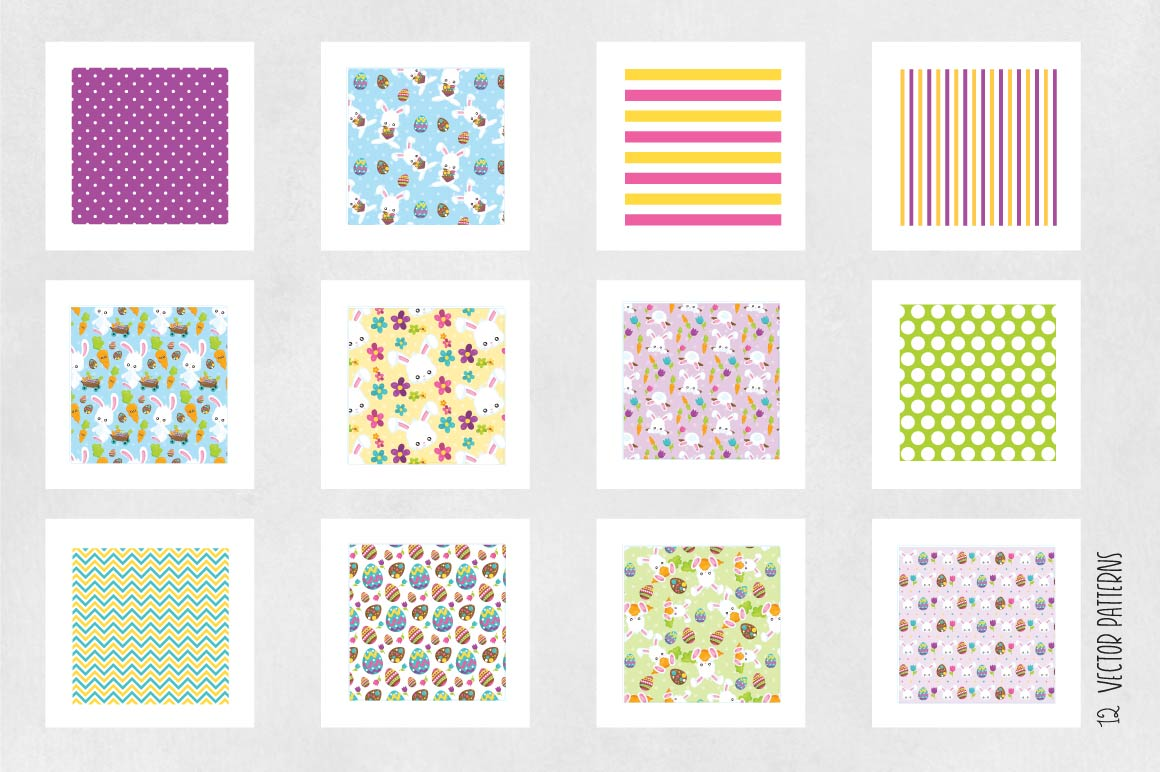 Print on Demand: Easter Graphic Patterns By Prettygrafik - Image 5