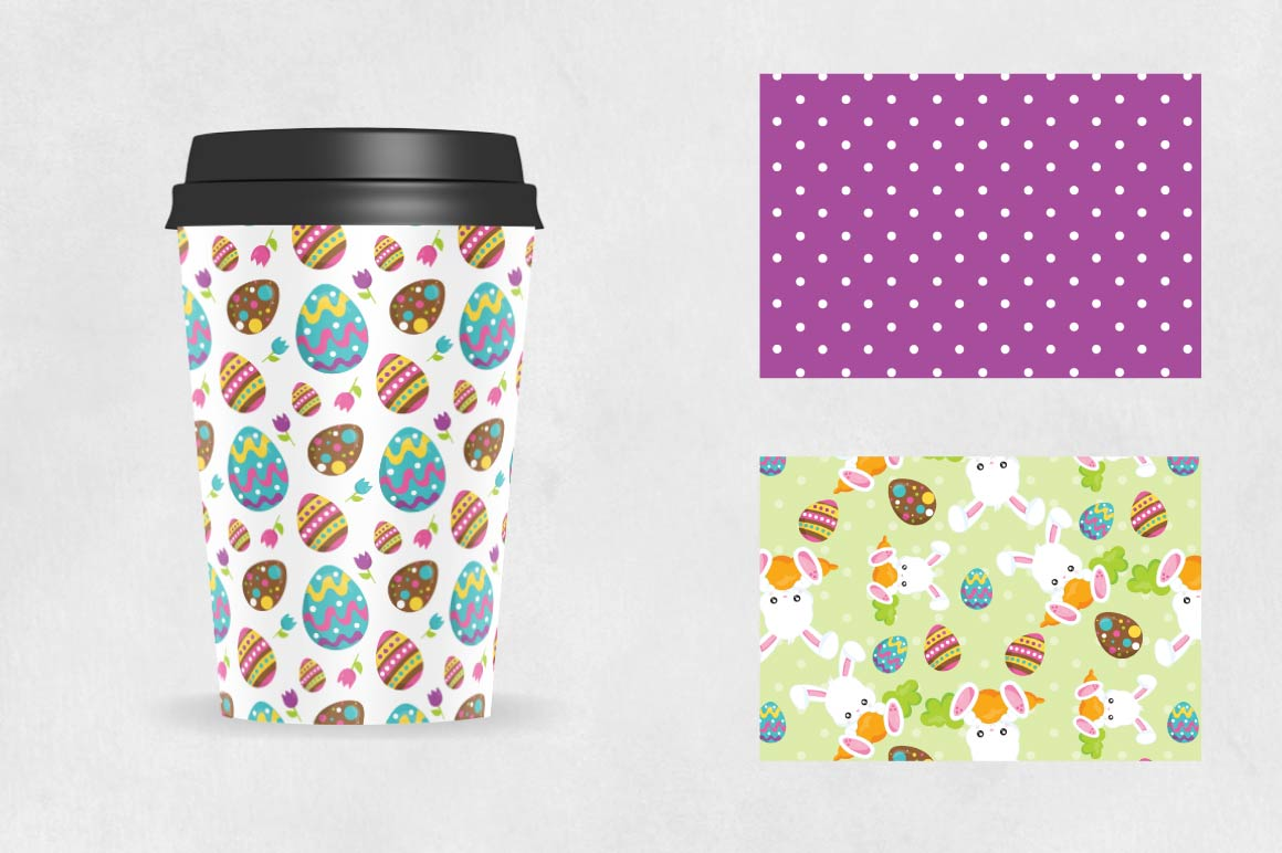 Print on Demand: Easter Graphic Patterns By Prettygrafik - Image 2