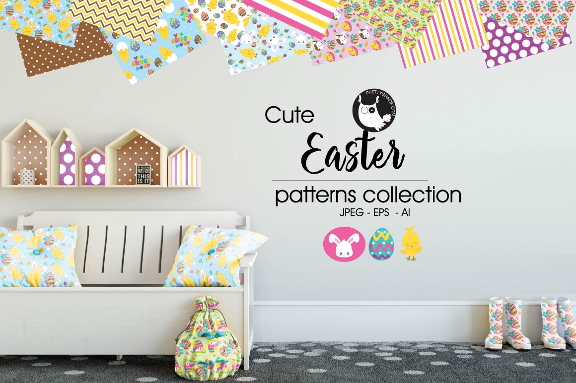 Print on Demand: Easter Graphic Patterns By Prettygrafik