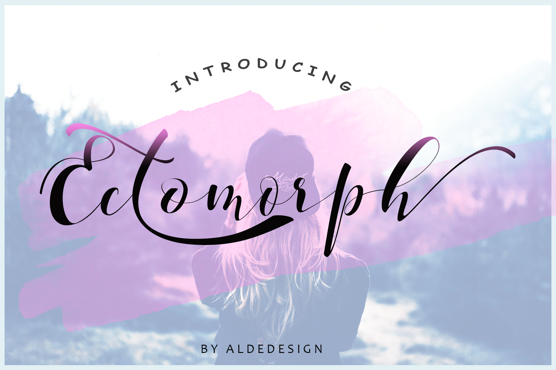 Print on Demand: Ectomorph Script & Handwritten Font By aldedesign