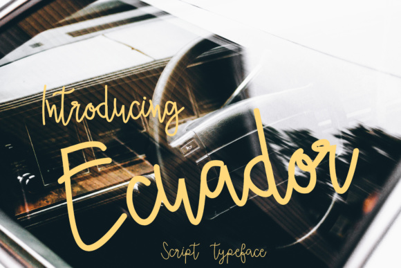 Print on Demand: Ecuador Script & Handwritten Font By ed.creative