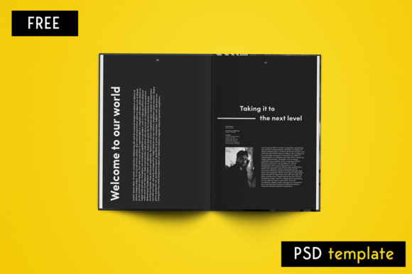 Editorial Magazine Graphic Print Templates By Creative Fabrica Freebies - Image 2