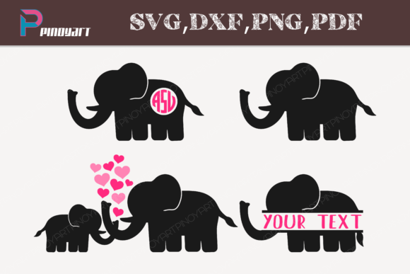 Elephant Svg's Graphic Crafts By Pinoyartkreatib