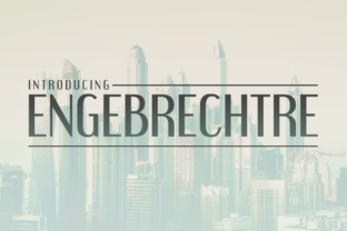 Engebrechtre Font By Typodermic