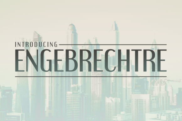 Print on Demand: Engebrechtre Sans Serif Font By Typodermic