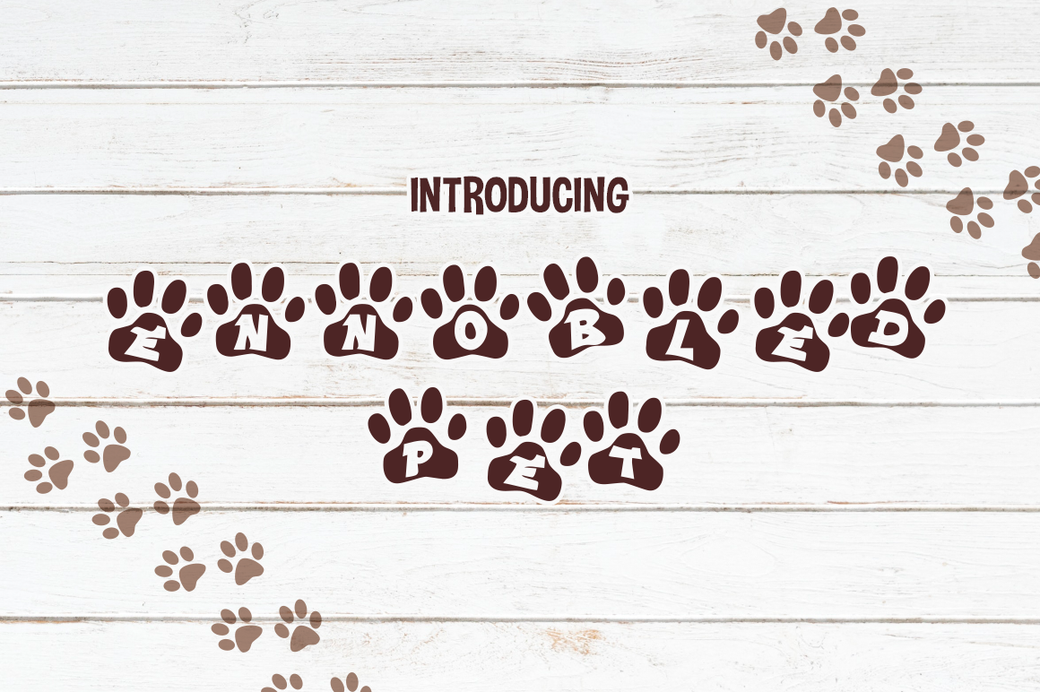 Print on Demand: Ennobled Pet Decorative Font By Typodermic