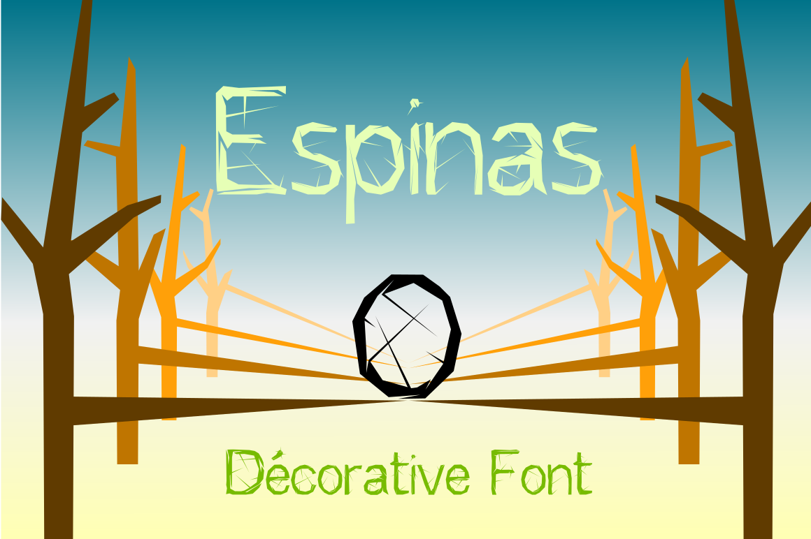 Print on Demand: Espinas Decorative Font By hvlet49