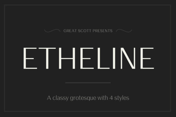Print on Demand: Etheline Sans Serif Font By daniel.feldt
