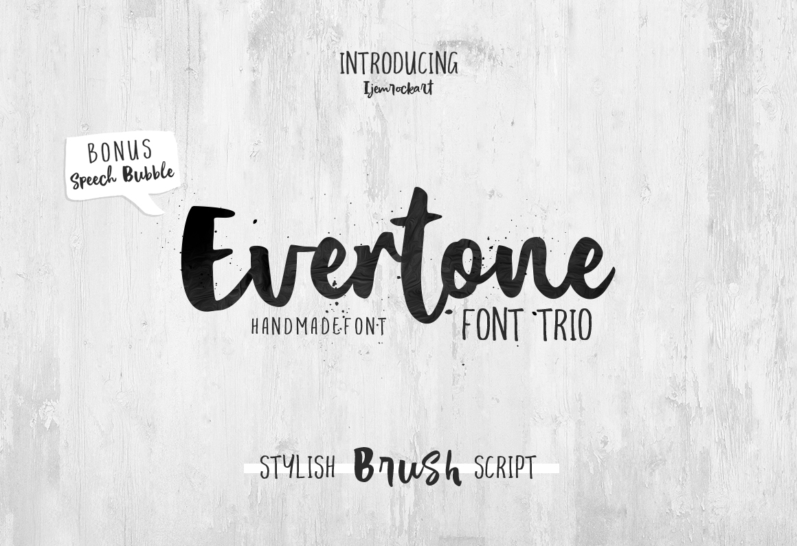 Print on Demand: Evertone Script & Handwritten Font By Ijem RockArt