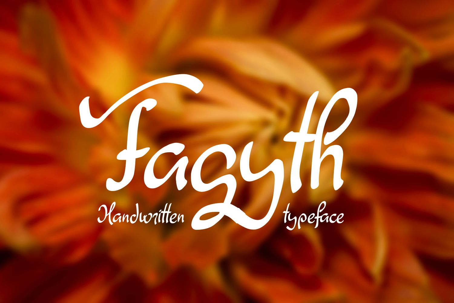 Print on Demand: Fagyth Script & Handwritten Font By Eva Barabasne Olasz