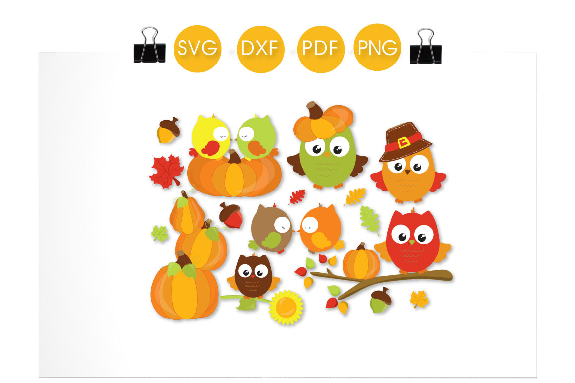 Fall Owls Graphic Download