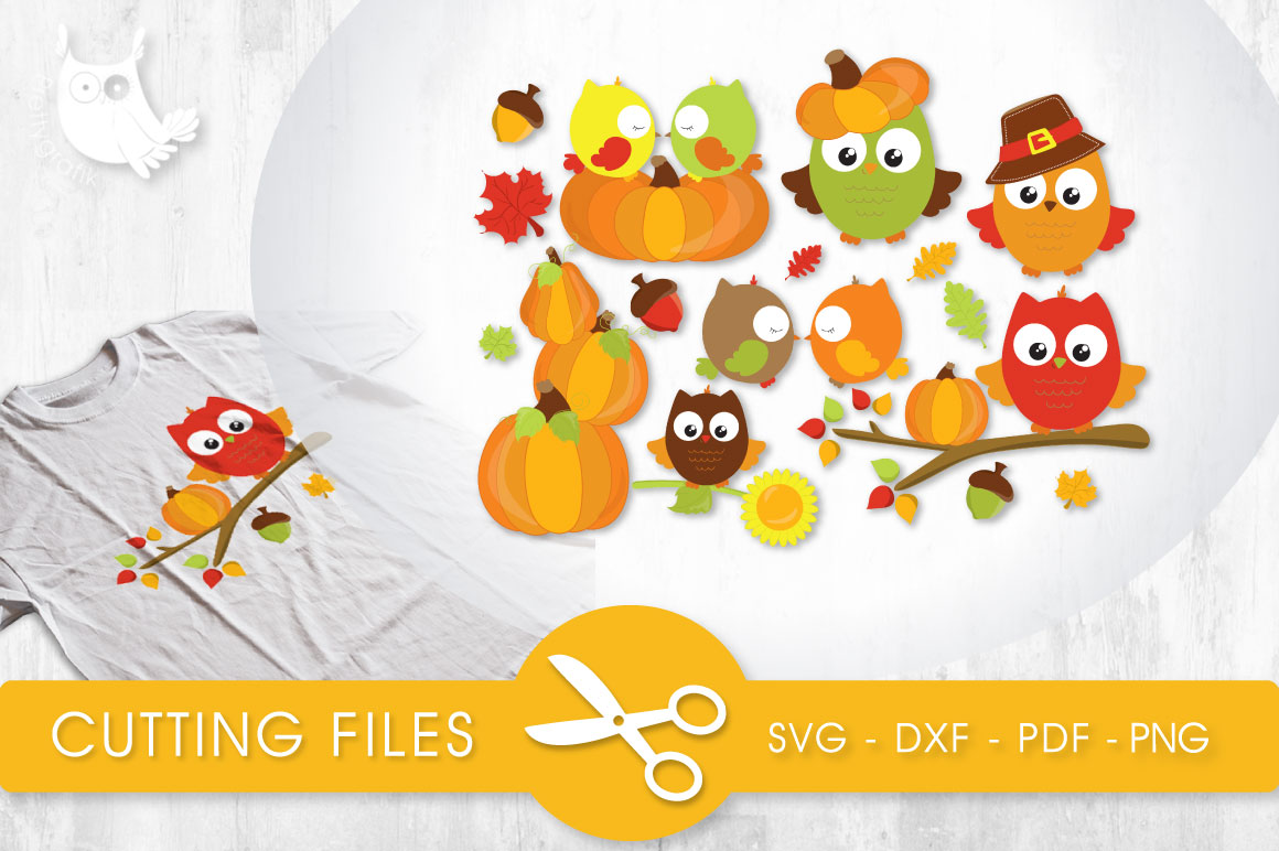 Fall Owls Graphic Crafts By PrettyCuttables