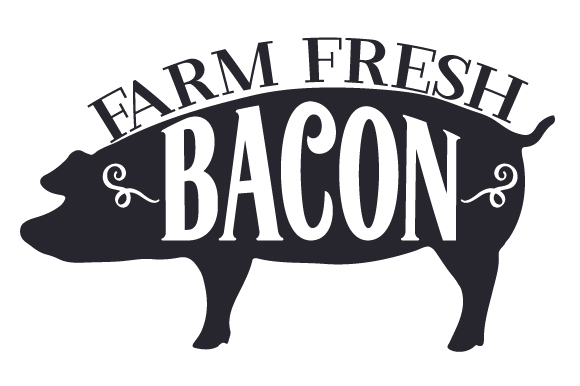 Farm Fresh Bacon Farm & Country Craft Cut File By Creative Fabrica Crafts