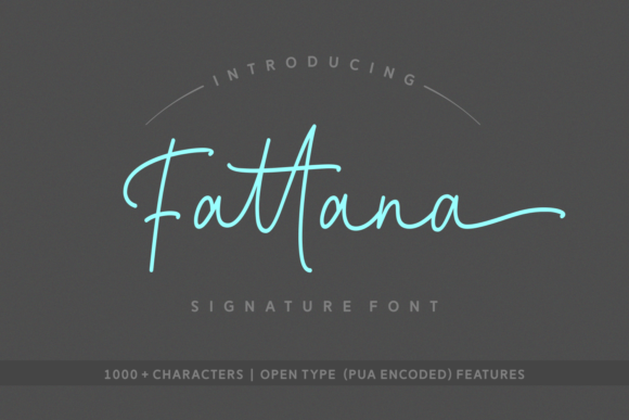 Print on Demand: Fattana Script & Handwritten Font By Rifki (7ntypes)