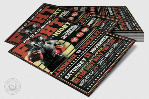 Fight Night Flyer Template Graphic Print Templates By ThatsDesignStore - Image 4