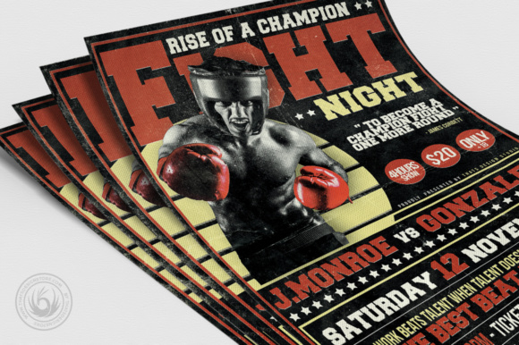 Fight Night Flyer Template Graphic Print Templates By ThatsDesignStore - Image 5