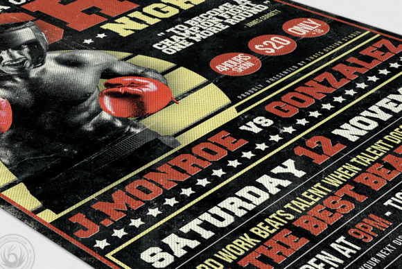 Fight Night Flyer Template Graphic Print Templates By ThatsDesignStore - Image 6