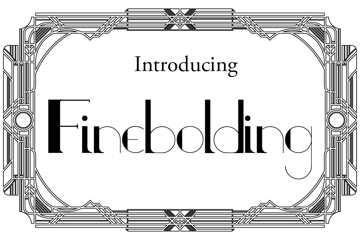 Print on Demand: Finebolding Serif Font By hamelinckmichael