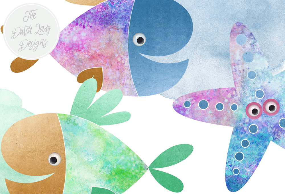 Print on Demand: Fish Clipart Set Graphic Illustrations By daphnepopuliers - Image 3