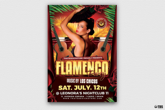Flamenco Party Flyer Template Graphic By ThatsDesignStore