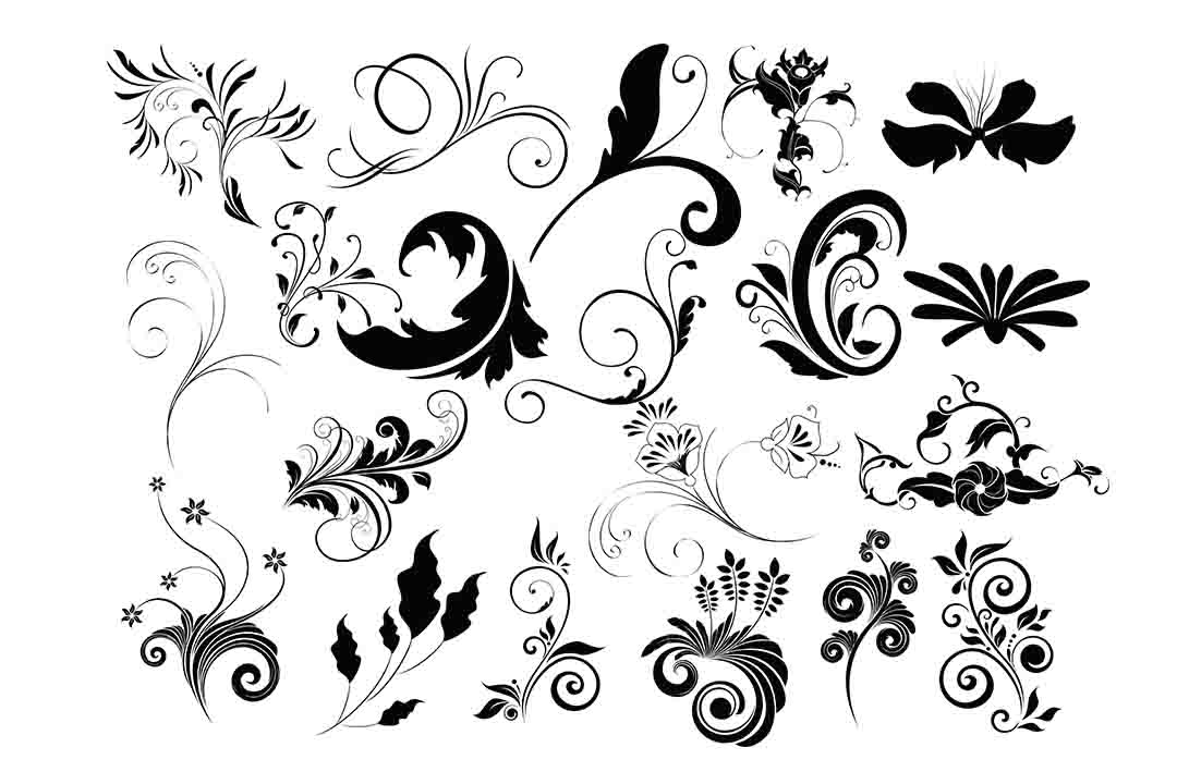 Download Free Flourish Clipart Graphic By Retrowalldecor Creative Fabrica for Cricut Explore, Silhouette and other cutting machines.