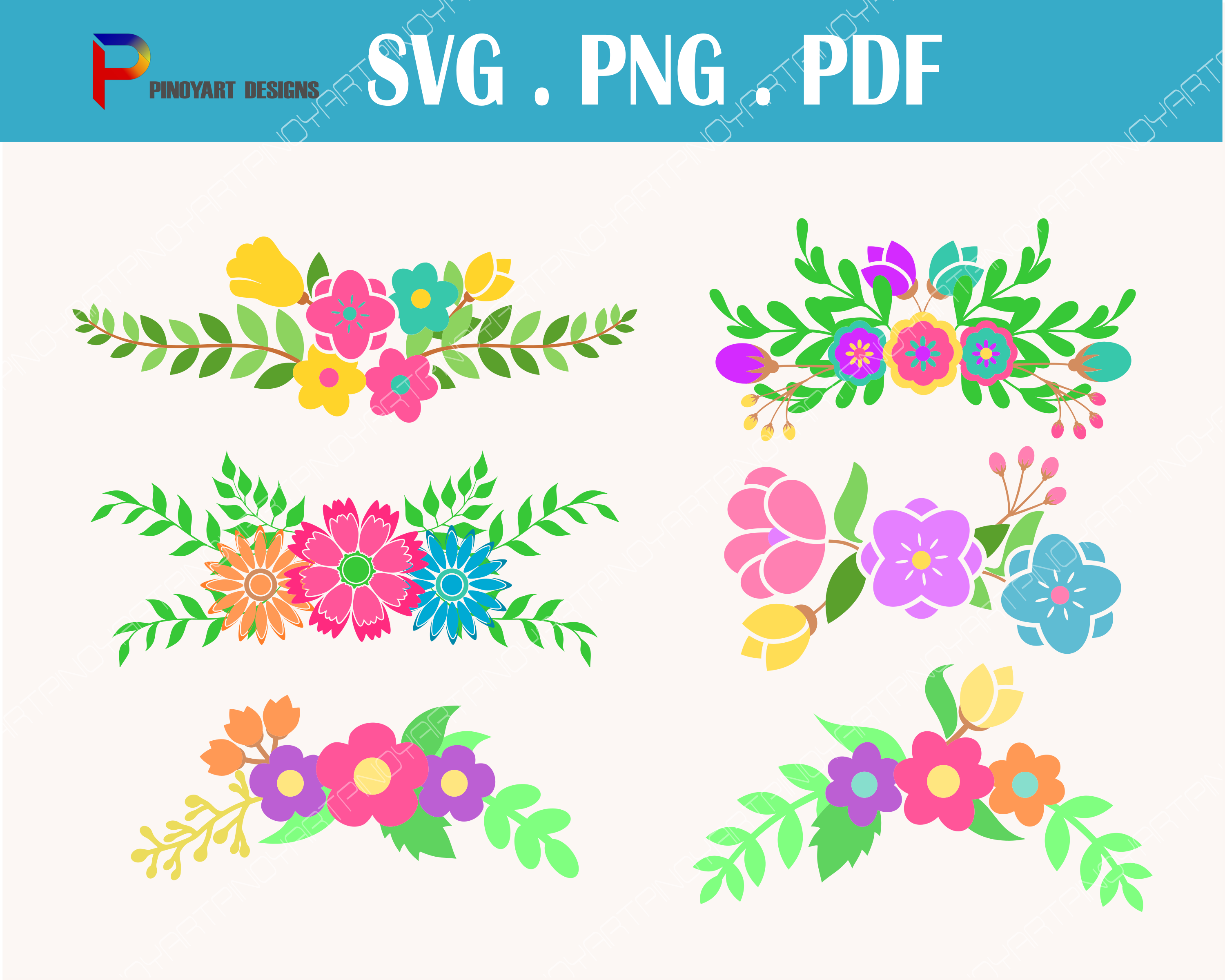 Flower Bouquet  Graphic Crafts By Pinoyartkreatib