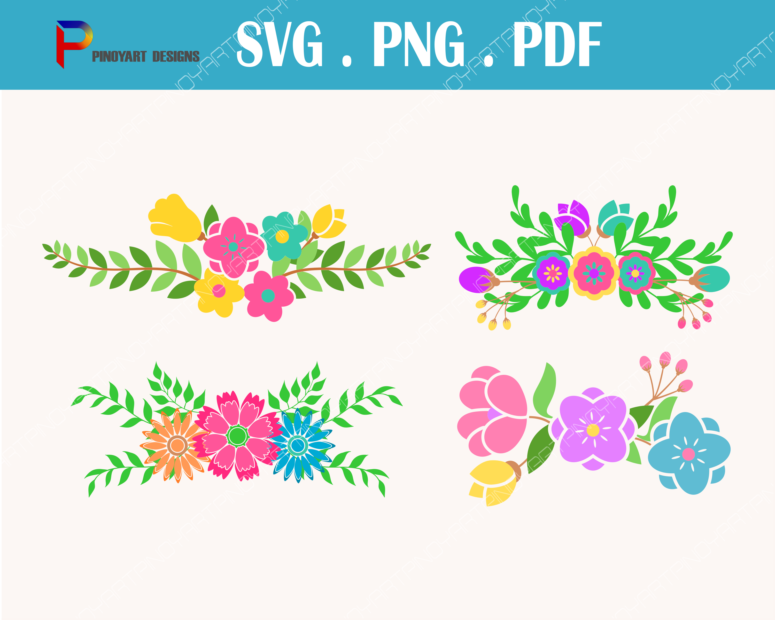 Flower Svg, Flower Svg File, Flower Clip Art, Floral Svg, Floral Svg File, Svg, Svg Files for Cricut Graphic Crafts By Pinoyartkreatib