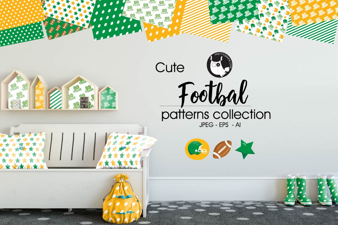 Print on Demand: Footbal Patterns Graphic Patterns By Prettygrafik