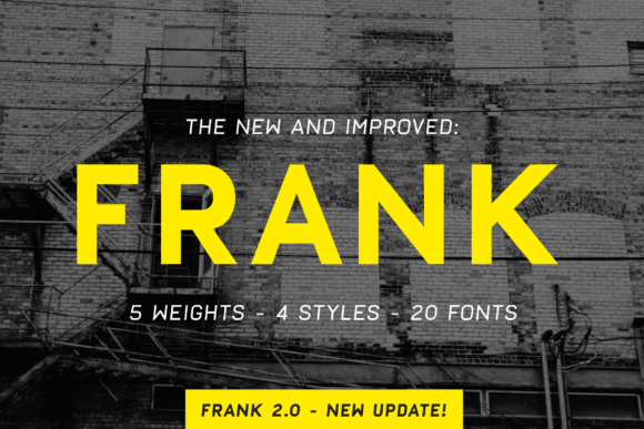 Print on Demand: Frank Sans Serif Font By daniel.feldt