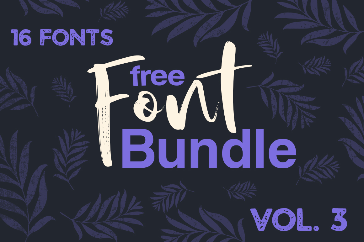 Download Free Free Font Bundle Vol 3 Bundle Creative Fabrica for Cricut Explore, Silhouette and other cutting machines.