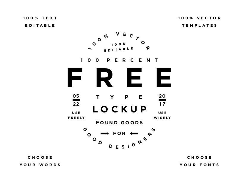 Free Type Lockup Graphic Graphic Templates By Creative Fabrica Freebies