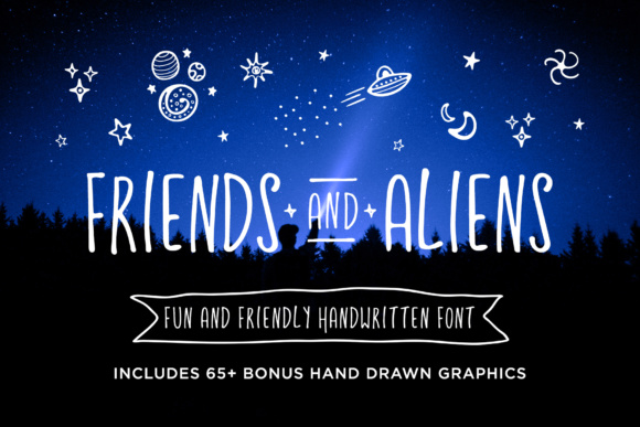 Print on Demand: Friends and Aliens Script & Handwritten Font By Running With Foxes