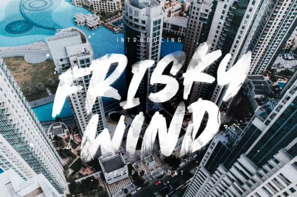 Print on Demand: Frisky Wind Display Font By ChekArt