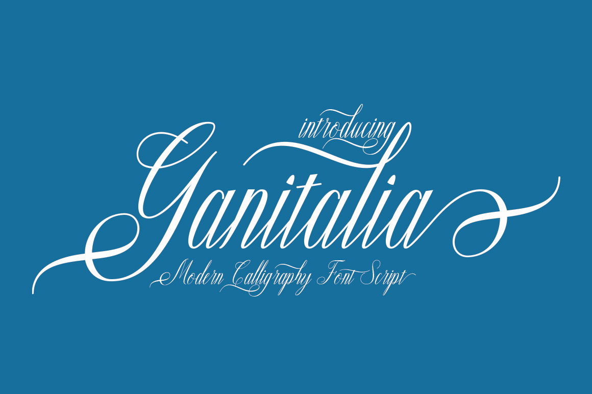 Print on Demand: Ganitalia Script & Handwritten Font By naldystudio