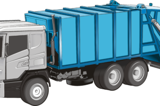 Garbage Truck Graphic By fray06100