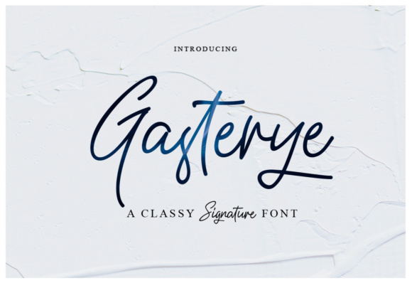 Print on Demand: Gasterye Script & Handwritten Font By Ijem RockArt